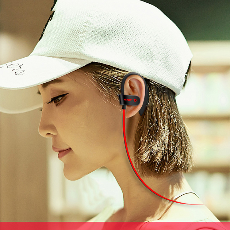 Bluetooth V5.0 Ear Hook flat running sports wireless headphones