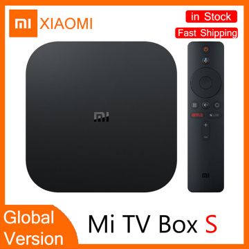TV SetTop Box Global Vision XIAOMI Mi Box S 4K HDR Android TV 8.1 2G 8G WiFi Connection Netflix Google TV Box Stick Media Player