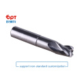 Solid carbide end mill for alumium