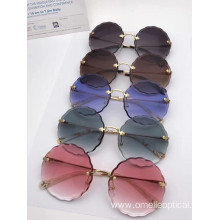 High quality Rimless Round Sunglasses For Women