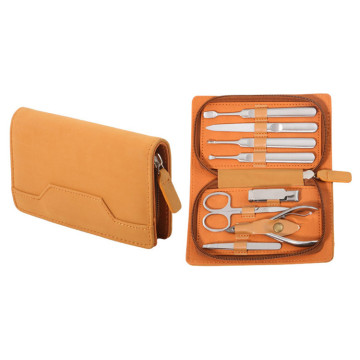 Zipper Leather Case Manicure Tools