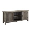 Hot on Amazon Industrial Simple TV Stand Wood TV Cabinet with Showcase