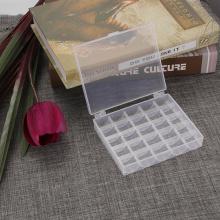 Container Boxes Transparent Plastic Sewing Thread Bobbin Box Jewel Bead Case Machine Holder Holds 25 Storage Organizer