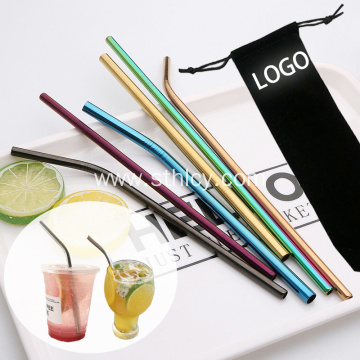 Reusable Colored Stainless Steel 304 Drinking Straw