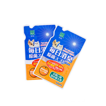 Stand Up Aluminum Pouch For Liquid Disinfectant