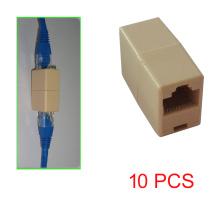 10 Pcs- RJ45 Cable Connector Inline CAT5E Coupler Ethernet Cable Coupler Female to Female Extension Joiner Telecom Parts