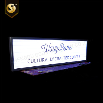 LED illuminated poster holder with clip on frame