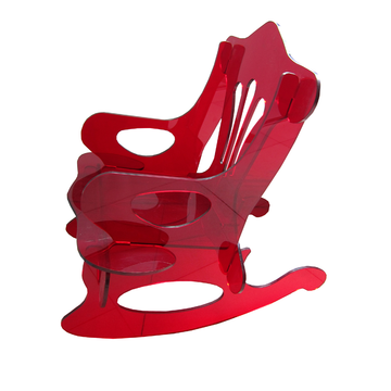 Red Acrylic Rocking Chair