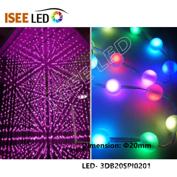New 20mm Diameter WS2811 LED Ball Light String