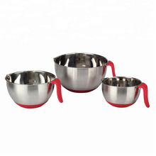 Stainless Steel Non-Slip Mixing Bowls Set with Handles