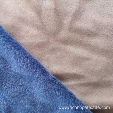 Polyester Double Side Dyed Solid Flannel Fabric