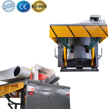 Scrap metal induction melting electric furnace