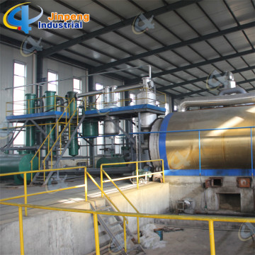 Batch tire plastic pyrolysis plant