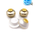 Golden acrylic spherical cosmetic jars with good price