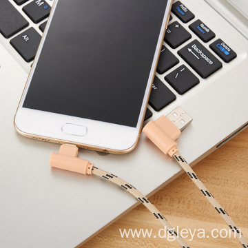 2.4A  90 degree elbow usb cable