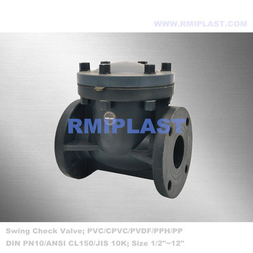Plastic Swing Check Valve UPVC PN10