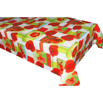 Pvc Printed fitted table covers 16X90