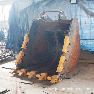 Reinforced Mining Rock/Heavy-duty E390FL 6cbm Excavator Bucket 90 tonnage 2000mm width 6 rock teeth/tines