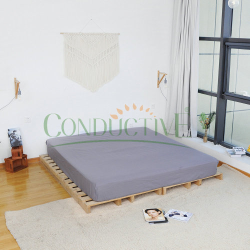Grounded fitted sheet wrap mattress