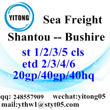 Shantou Logistics Services to Bushire