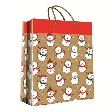 CHRISTMAS SERIES KRAFT GIFTBAG14-0
