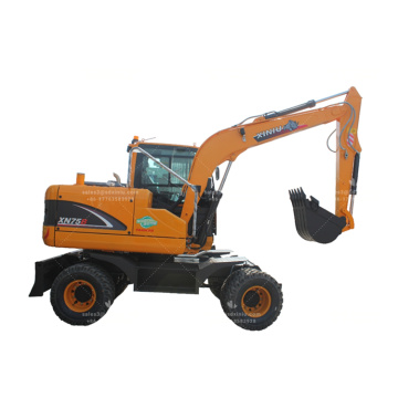 6TON XINIU 75B wheeled excavator for sale