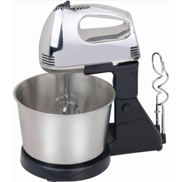 low noise hand mixer with stainless steel bowl