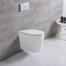One Piece Kicking Automatic Flushing WC Toilet