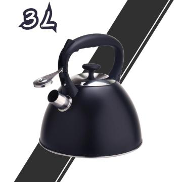 Black Durable Color Stainless Steel Stovetop Teapot
