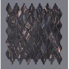 Black Theme Bar KTV Glass Mosaic Wall Tiles
