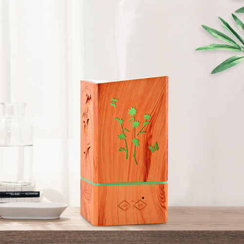 Square Wood Grain Lavender Essential Oil Natural Diffuser