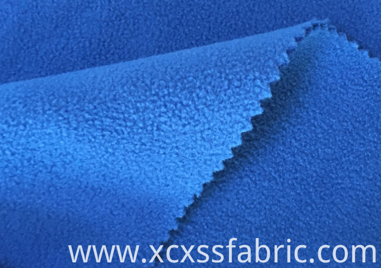 Bonded polar fleece fabric