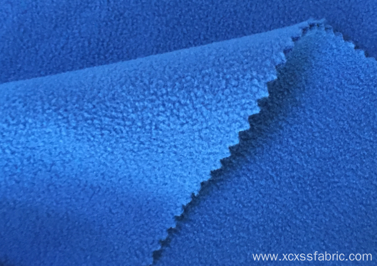 100% polyester dyed micro bonded polar fleece fabric