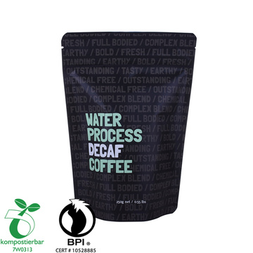 Recyclable coffee Doypack Plastic zipper bag with valve