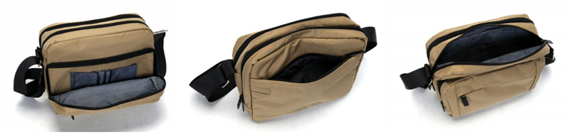 Urban recreational waist pack Solid color waist pack Convenience multi-layer waist pack