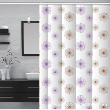 Waterproof Bathroom printed Shower Curtain No Holes
