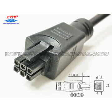 overmolded micro-fit 3.0 6pin connector