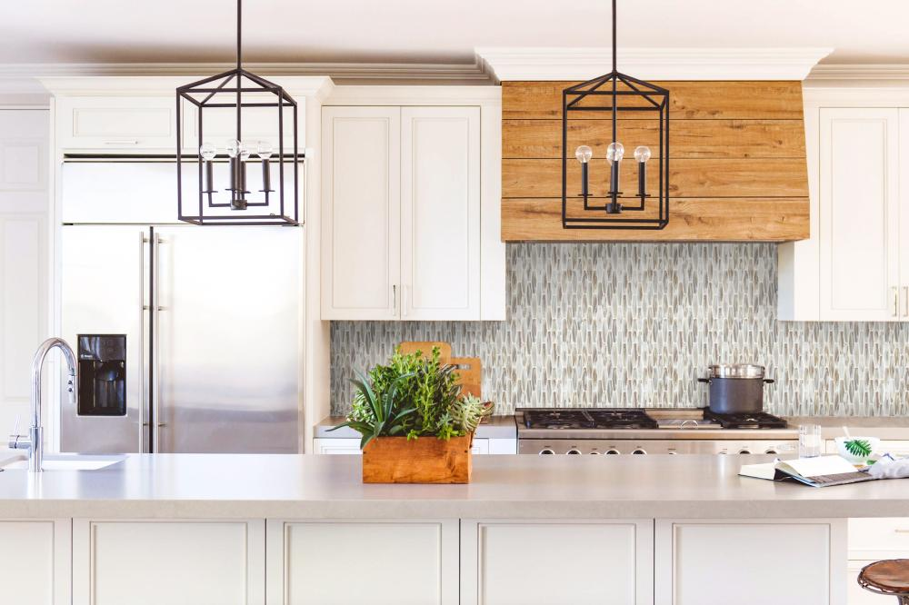 Kitchen counter backsplash wall design ideas
