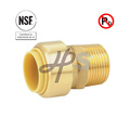 NSF low lead brass Push Fit Mnpt Male Coupling