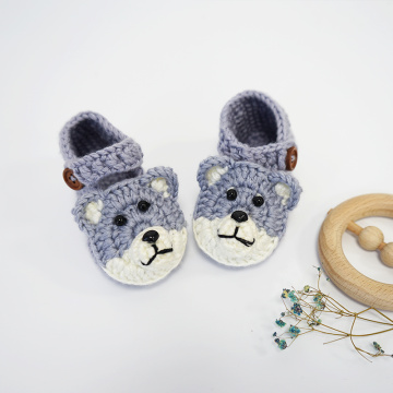 New Born Casual Design knitting baby booties
