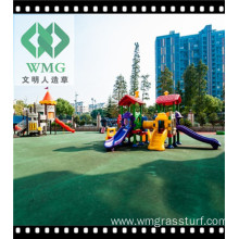 Playground Rubber Flooring Fibrillated Grass