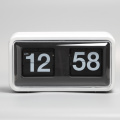 White Box Flip Table Clocks