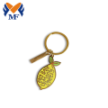 Metal Custom Lemon Keychain With Charms