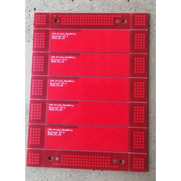 2 layer PCB 1.6mm cù saldatura Rossa