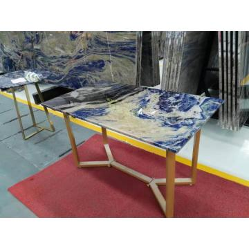 Semi precious blue sodalite retectangle  table