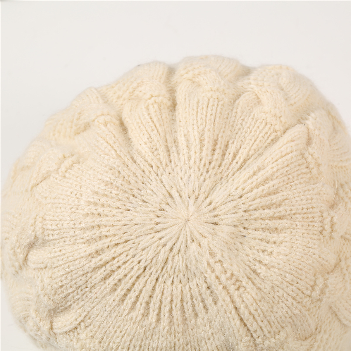 European and American warm rabbit wool knit cap (12)