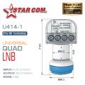 5PCS STAR COM LNB For Satellite TV Receiver Dish TV KU BAND LNB Universal Quad LNBF Tuner 01dB Noice Figure