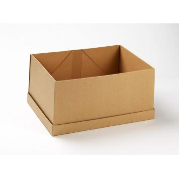 Natural Brown Folding Kraft Gift Boxes with lid