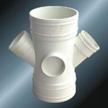 BS5255/4514 Drainage Upvc Reducing Y-cross Grey Color