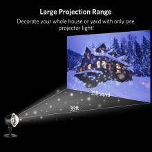 Snowflake Moving Patterns LED Landscape Lights